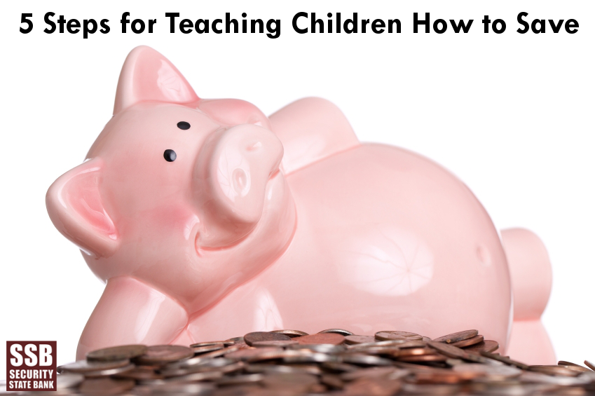 5 steps for teaching kids how to save from Security State Bank